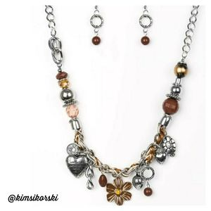 NEW Paparazzi Charmed I'm Sure Necklace Earrings